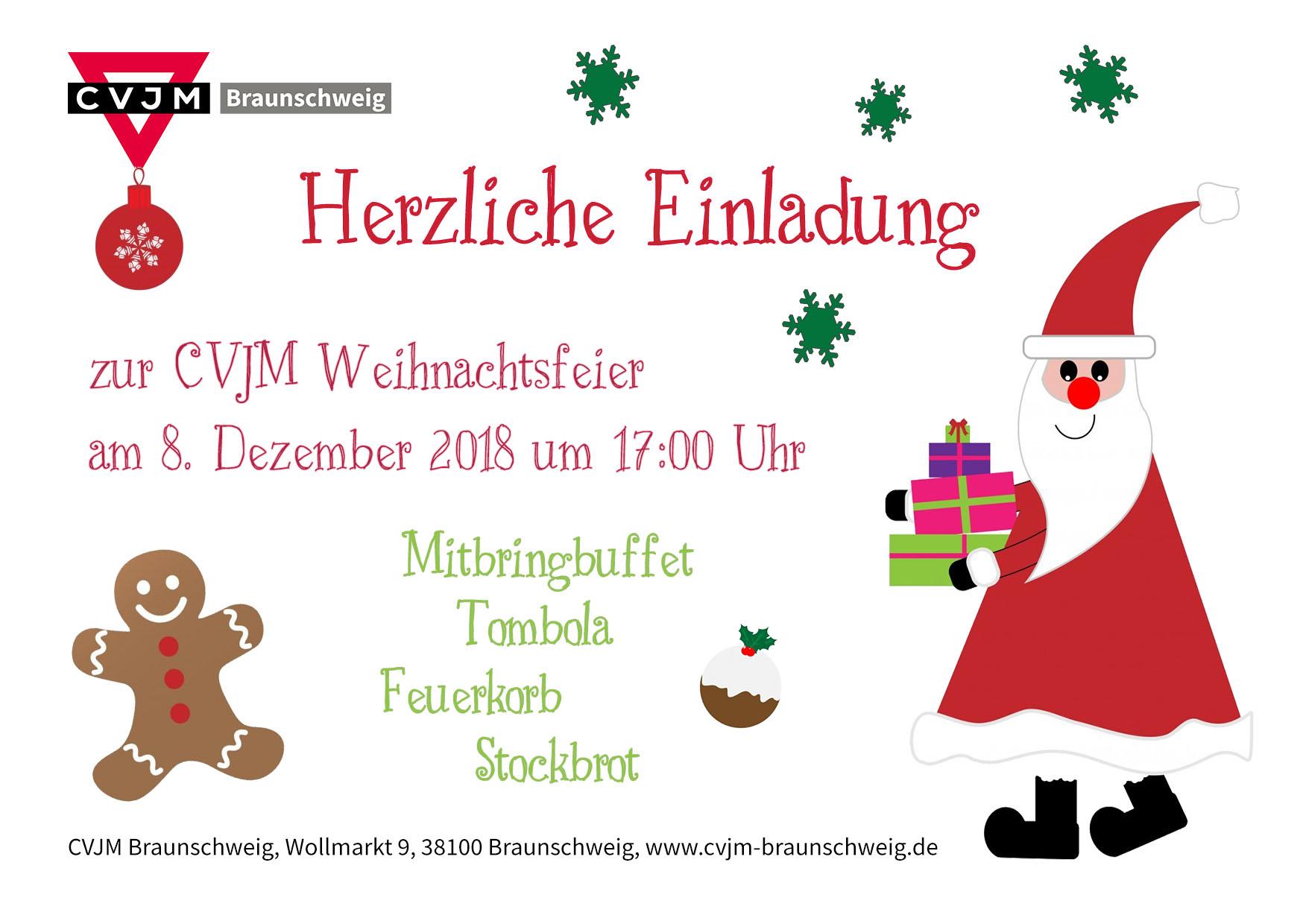 Weihnachtsfeier In Braunschweig.Weihnachtsfeier Cvjm Braunschweig E V